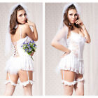 Women Honeymoon Bridal Lace Dress Lingerie Night Sleepwear Underwear Set Costume