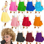 GIRLS SANDY SKIRT Plain 1950s Costume Circle Skirt Rock and Roll GREASE COSTUME