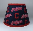Cleveland Indians MLB Navy Red Fabric Lamp Shade Lampshade Handmade on Ebay
