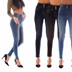 New Womens Ladies Sexy High Waist Skinny Jeans Blue Stretch Denim Jeggings 6-18