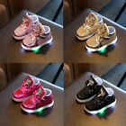 Kid Boys Girls Shoes Light Up LED Luminous Children Baby Trainers Sport Sneakers