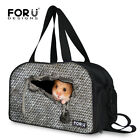 Cool Animal Large Gym Bag Women Men Sports Duffle Bag Designer Shoulder Bag Gray