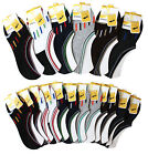 6-12 Pairs Men Cotton Invisible No-Show Loafer Boat Non-Slip Low Cut Socks 10-13