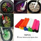 PVC Spoke Wraps Covers Fit All 17~21 Inches Wheel Dirt Bikes MX Enduro Supermoto