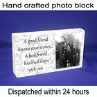 Personalised block with photo and message unique gift new best friend stories