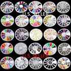 TDUSA Nail Art Tips Decoration 3D Acrylic Glitter Rhinestones DIY Wheel Set - NT