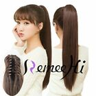 """15""""-22"""" Silky Straight Claw Clip Ponytail Human Hair Extensions 85g-125g"""