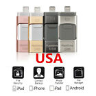 256GB i Flash Drive USB Memory Stick U Disk 3 in 1 for Android/IOS iPhone 6S PC