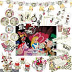 Alice In Wonderland Mad Hatters Vintage Tea Party Cups Plates Party Table Sets