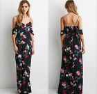 New Women Summer Boho Floral Long Maxi Dress Evening Party Beach Dress Sundress