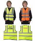 kids childrens school safety Hi-Vis reflective vest plain or with any name