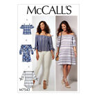 McCalls Sewing Pattern Misses Off-the-Shoulder Tops, Tunic and Dress | M7543