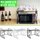 Durable 2 Tier Multifunctional Iron Microwave Oven Rack Household Kitchen Shelf