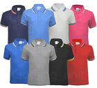 Boys Girls Childrens Kids Short Sleeve Tipping Pique Polo Shirt Top Casual