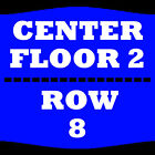 2 TIX CHRIS BROWN 4/18 FLOOR 2 ROW 8 JACKSONVILLE VETERANS MEMORIAL ARENA