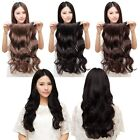 3/4 Full Head Clip in Hair Extensions Long Straight Style 5 Clips One Piece AU