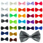 High Quality Satin Plain Mens Adjustable Pre Tied Wedding Party Dickie Bow ties