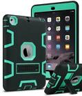 Military Shockproof Heavy Duty Rubber With Hard Stand Case Cover For Apple iPad