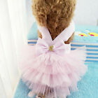 Dog Apparel Cat Bow Tutu Dress Lace Skirt Pet Puppy Dog Princess Costume Clothes
