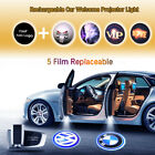 2x Rechargeable Wireless LED Auto Vehicle Car Door Ghost Shadow Projector Light