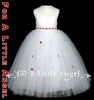 RED or LILAC or IVORY satin FLOWER GIRL DRESS w tulle skirt wedding party