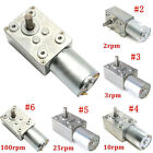 0.6~120RPM Reversible High Torque Turbo Worm Geared Motor 12V Reduction Motor GG