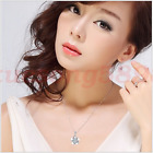Blooming plum flower necklace pendant S925 high-grand crystal clavicle chain