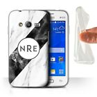 Personalized Custom Marble Phone Gel Case/Cover for Samsung Galaxy Note Initial
