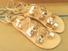 New Ancient Greek Style Gladiator Womens Roman Leather Handmade Sandals Shoes