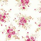 NEW Roses Floral Fabric - 100% COTTON vintage Floral Material - Quilting