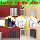 Horizontal Designer Column Radiators Double & Single Central Heating Panel New