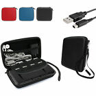 EEEKit Travel Carrying Case Storage+Charging Cable+USB Adapter for Nintendo 2DS