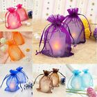 Внешний вид - 25/50/100pcs Sheer Organza Wedding Party Favor Gift Candy Bags Jewelry Pouches