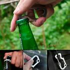 Multi-Tools Pocket Carabiner Bottle Opener Hex Driver Key Chain Survival Gear