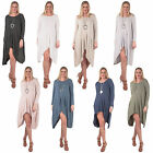 New Womens Italian Asymmetrical Smock Casual Cotton Dress Size 10 14 16