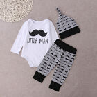 Newborn Infant Baby Boys Girls Tops Rompers Long Pants Outfits Cotton Clothes US
