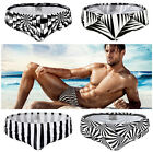 Summer Mens Black Plaids Stripes Beach Swim Trunks Swimwear Shorts Boxers Briefs