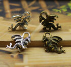 10/30pcs 20x15mm Antique Silver Bronze wing dragon Charms pendants Jewelry