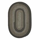 Deerfield Indoor Outdoor Oval Braided Rug, Gray ~ Size Choice