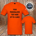 Custom Personalized T Shirt Your Design Your Text Here 16 Shirt Colors SM-6XL