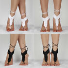Barefoot Sandals Crochet Cotton Foot Jewelry Anklet Bracelet Ankle Chain USXN