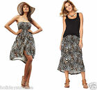 Size 6-28 UK Ladies womans strapless bandeau sexy summer sun beach dress skirt