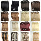 "14""-30"" Full Head Straight Hair 100% Clip in Human Hair Extensions 7pcs/set"
