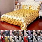 3pcs 16Momme 100% Pure Silk Print Duvet Cover Pillow Cover Set With Seam