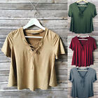 Fashion Women Ladies Summer Short Sleeve Loose T-Shirt Casual Blouse Shirt Tops
