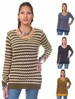 Crocheted Striped Sweater by Yoki Sweaters Collection (M, L & XL)