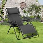 Large Royale Gravity Garden Patio Chair Foldable Reclining Extra Wide & Pillow