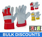 Canadian Leather Rigger Work Gloves - Heavy Duty - Red / Grey