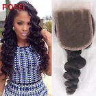 8A100% Brazilian 3.5*4 Lace Closure Loose Wave with Baby Hair Free/Middle/3 Part