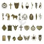 2-35pcs Antique Brass Metal Pendant Charms Supplies Jewelry Findings 30 Style CA